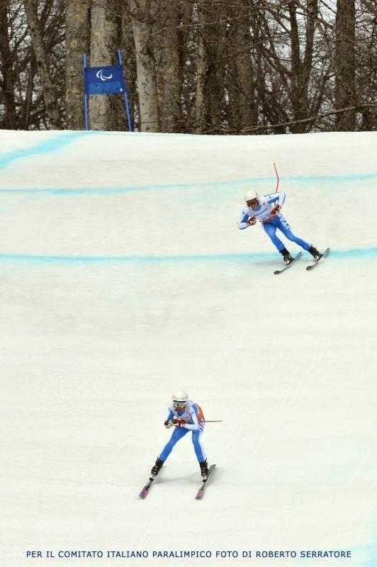 Paralimpiadi Sochi 2014 - Alessandro Daldoss scende dietro la sua guida Luca Negrini