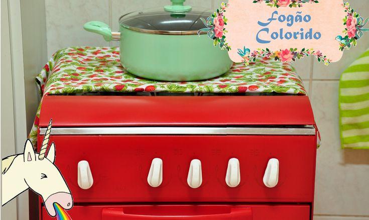 COMO PINTAR FOGÃO COLORIDO D.I.Y. (how to paint a Stove Oven) | #POCFaze...
