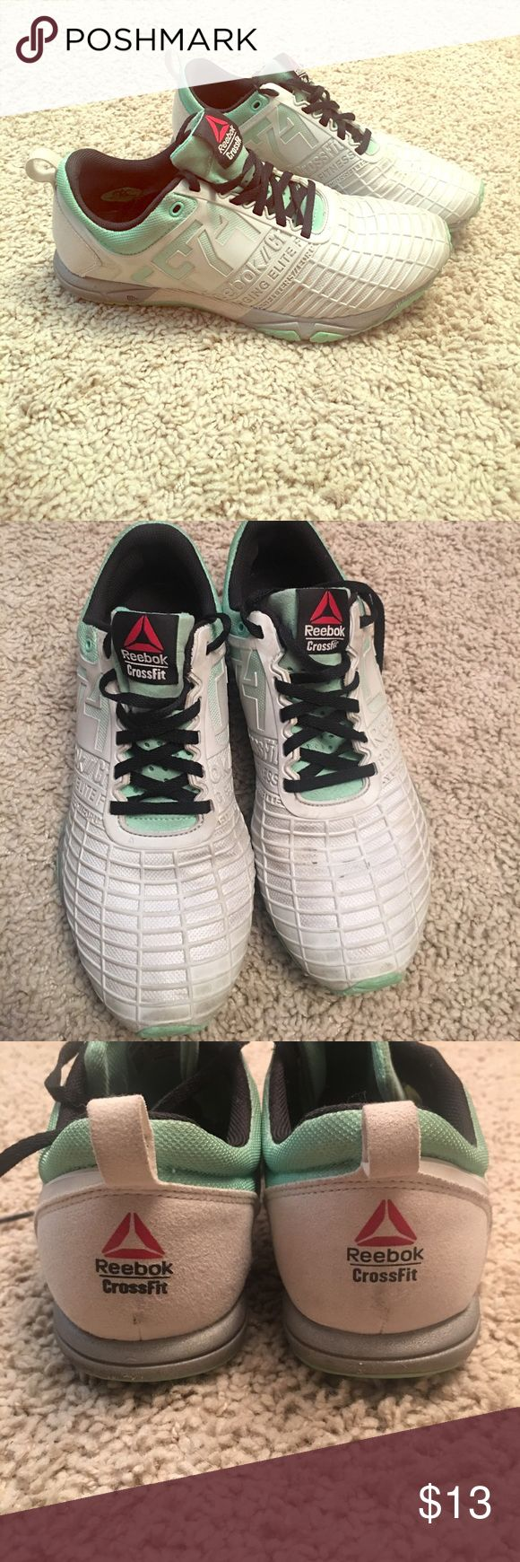 Reebok Crossfit Sprint Tennis Shoes Awesome shoes for a crossfitter or runner. Size 7.5. Good used conditions. Wear is shown in pics. Reebok Shoes Sneakers