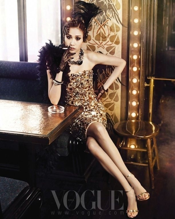 flappers back - vogue korea