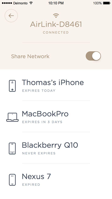 Wifi sharing app