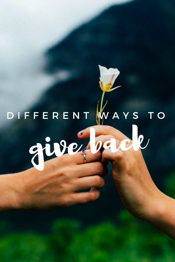 Find different organizations and charities to share the love.