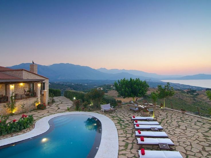 Rethymno villa rental - The private terrace and pool are just amazing!