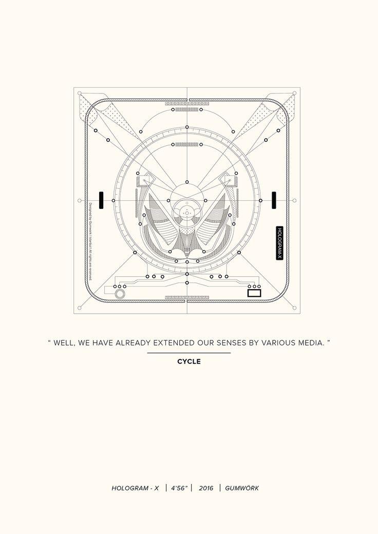 Cycle | HOLOGRAM-X / Poster by Gumwörk | 2016