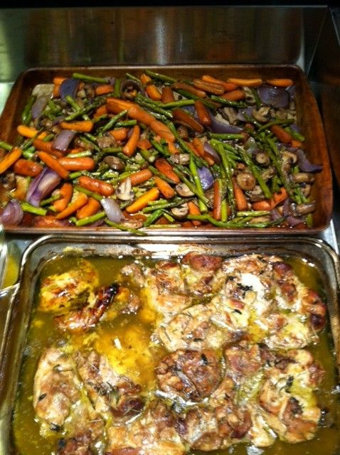 Balsamic Chicken with Roasted Vegetables.This is so easy to make and ...