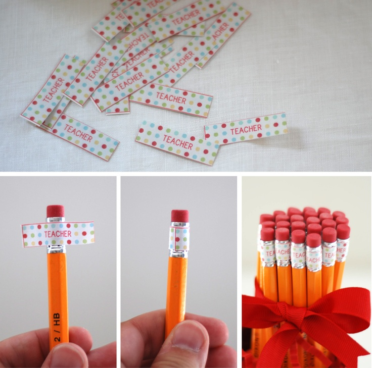 """Teacher"" Pencil Labels : Anders Ruff Back to school...cool way to label pencils."