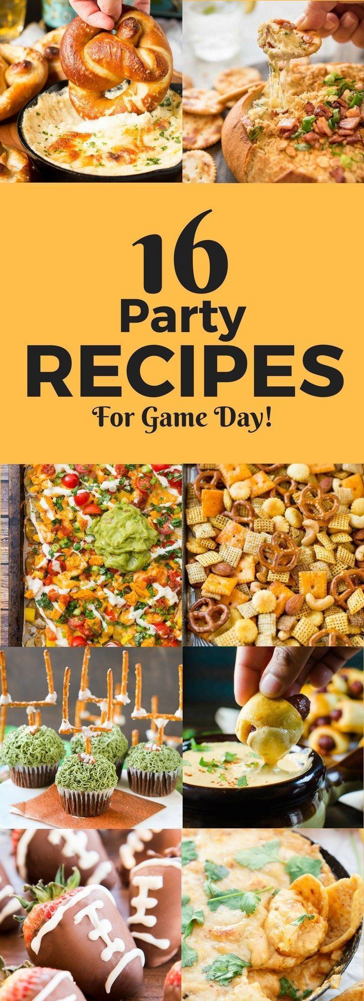 16 PARTY RECIPES FOR GAME DAY | Party appetizers | Football Party Food | Superbowl Appetizers