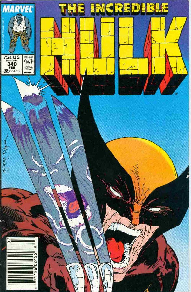 Todd McFarlane cover art for HULK- Wolverine: not real fond of McFarlane's art but this one is memorable