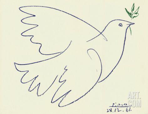 Blue Dove Art Print by Pablo Picasso at eu.art.com