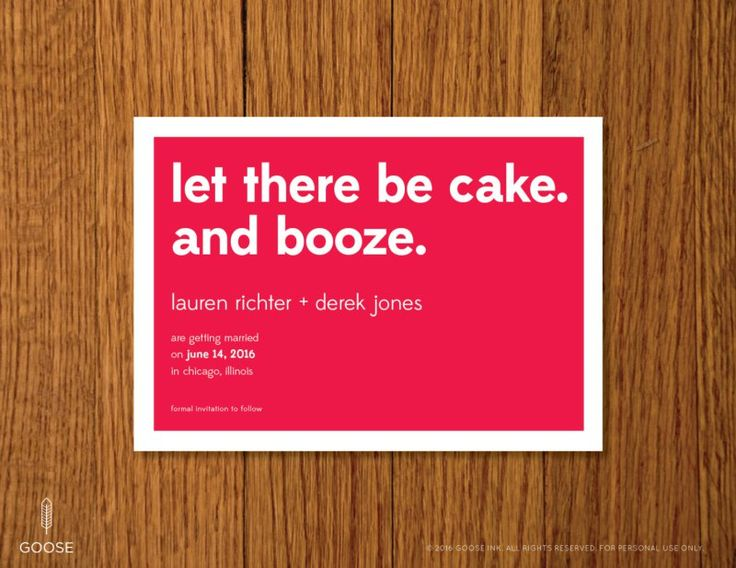 Witty Wedding Invitation Wording – Funny Wedding Invitation Ideas