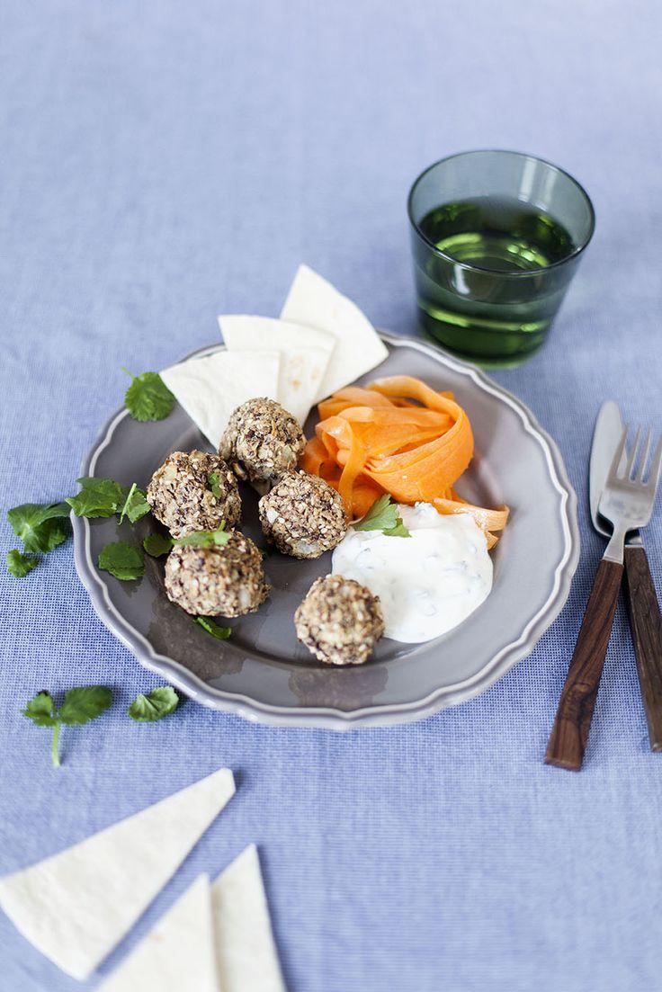 Bullar av bondböna, receptet hittar du här: http://martha.fi/sv/radgivning/recept/view-93381-4641
