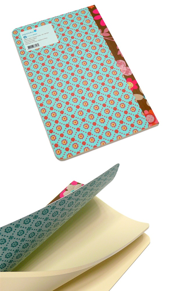 Atomic Soda Minilabo Softcover Notebook - Flowers