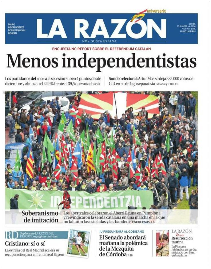 Portada de la raz n espa a newspapers spain - Montadores de pladur en madrid ...