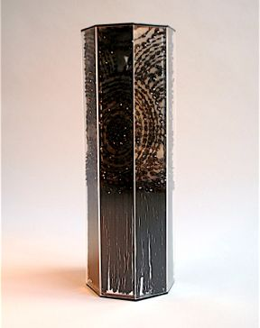 octagonal tower fringed beaded lace w mirrored back encased in clear plexiglass