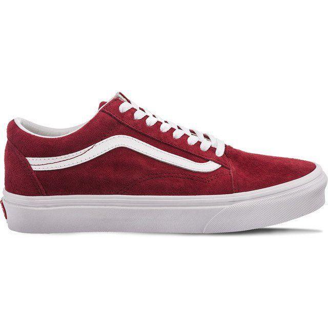 Trampki Damskie Vans Czerwone Vans Old Skool Pig Suede U5m Vans Vans Old Skool Vans Old Skool Sneaker