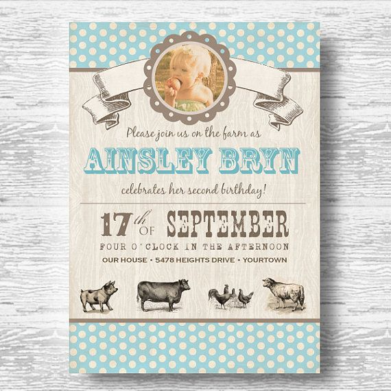 May The Fourth Be With You Baby Shower: Vintage Farm Invitation For Birthday Party Or Baby Shower