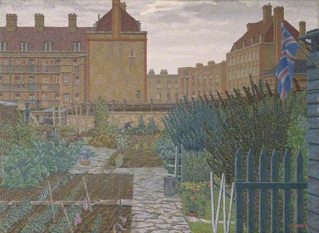 Bethnal Green Allotment By Charles Ginner,1943