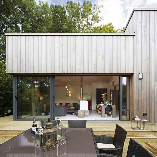 Fir View, Devon is a fantastic example of a modern cedar clad building. Available for holiday lets