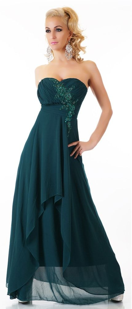 Zelené dlouhé šaty
