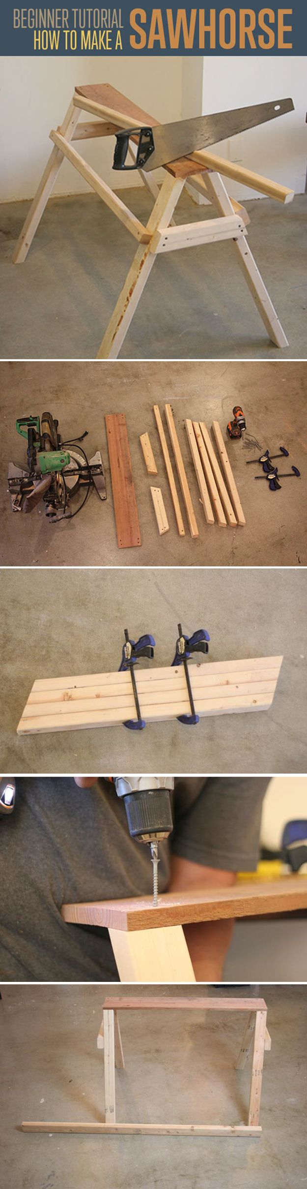 21 best images about saw horses on pinterest the family for Simple and easy diy projects