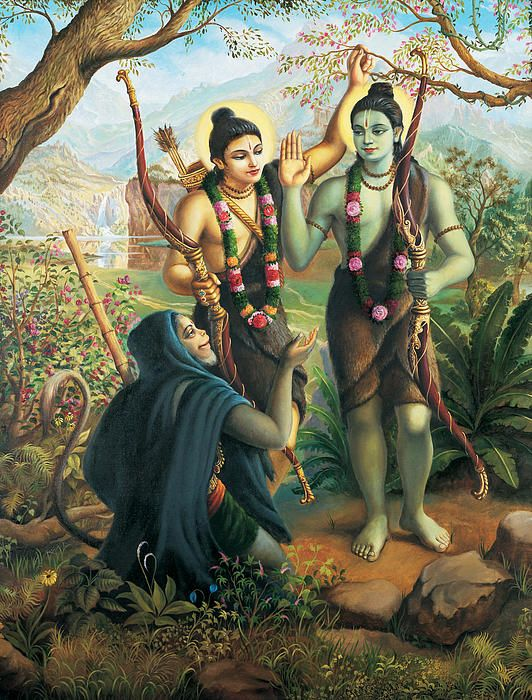 Hanuman Meeting Ram And Laxman