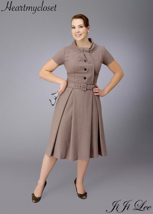 a little retro is good: this dress, for example, has enough visual interest that additional layering wouldn't be necessary.