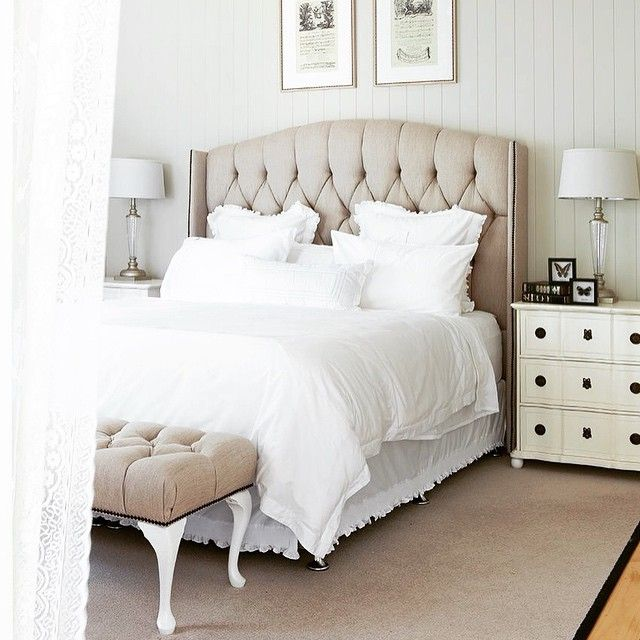 Some more inspiration tonight from Pinterest.com/ferrariinterior. An #upholstered #bedhead is such a great way to update a #bedroom and add #sophistication and a touch of #luxe. #interiordesigner #interiordesign #interiors #melbourneinteriordesigner