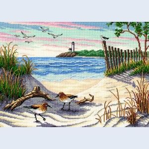 Beach Cross Stitch Patterns | Beauty of the Beach - Dimensions counted cross stitch kit