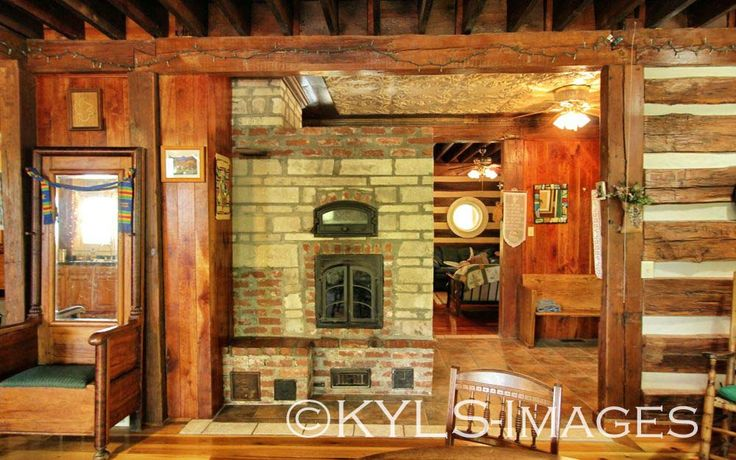 Artist Retreat Log Cabin Stone And Brick For Sale In