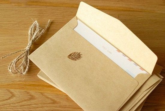 Buste carta craft 16x11 cm, ideali per partecipazioni, inviti matrimonio paper envelopes shabby rustic chic wedding (set 50 pcs) di FlowersFavours su Etsy