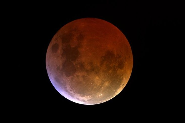 A totally eclipsed moon might get a red or brownish glow which has earned it the nick name Blood Moon... SEP 28 2015
