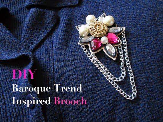 DIY: Stylish Gem Brooch ~ more at BELLAmagazine.eu