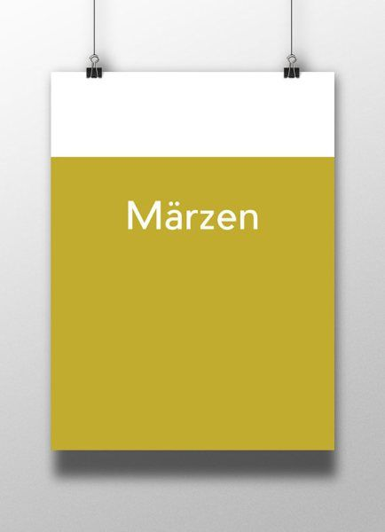 Märzen, or Märzenbier, is a German-style lager. Get the minimalistic poster from hoppedart.com #craftbeer #beerart
