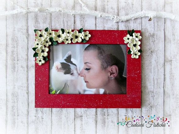 Quilling  Paper  Handmade  Photo frame by CadouriFistichii on Etsy