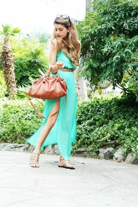 Mint Maxi.  #mint #spring #fashion #springcolor