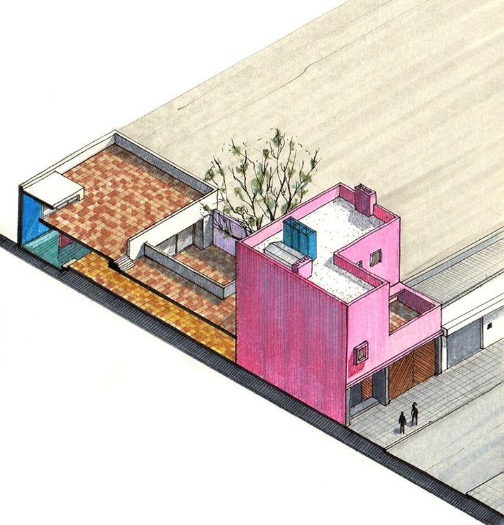 Galería de Icónicos Clásicos de Arquitectura representados en vista axonometrica - 14