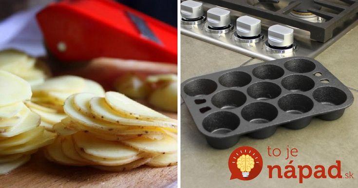 Plátky zemiakov vložila do formy na muffiny. Výsledok zachutí aj vám!