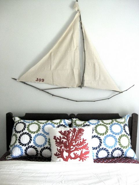 Cute Nautical Theme Bedroom love the boat- guest bedroom??