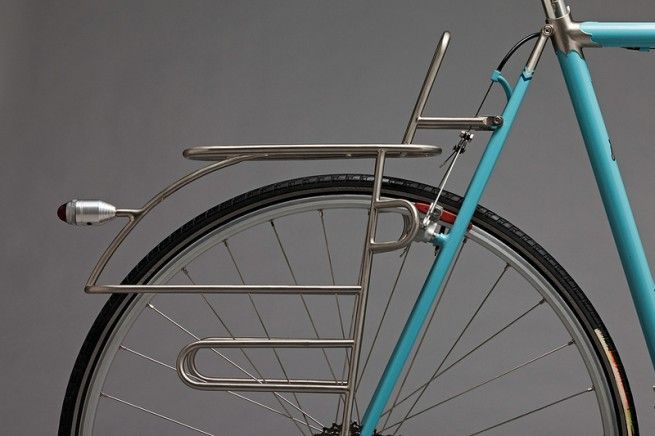Bicycle Rack on a blue touring bike. photo by Nate Mumford