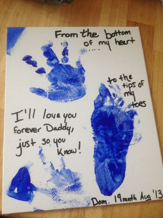 Footprint Craft | DIY Fathers Day Crafts for Kids | Homemade Birthday Gifts for Dad from Son