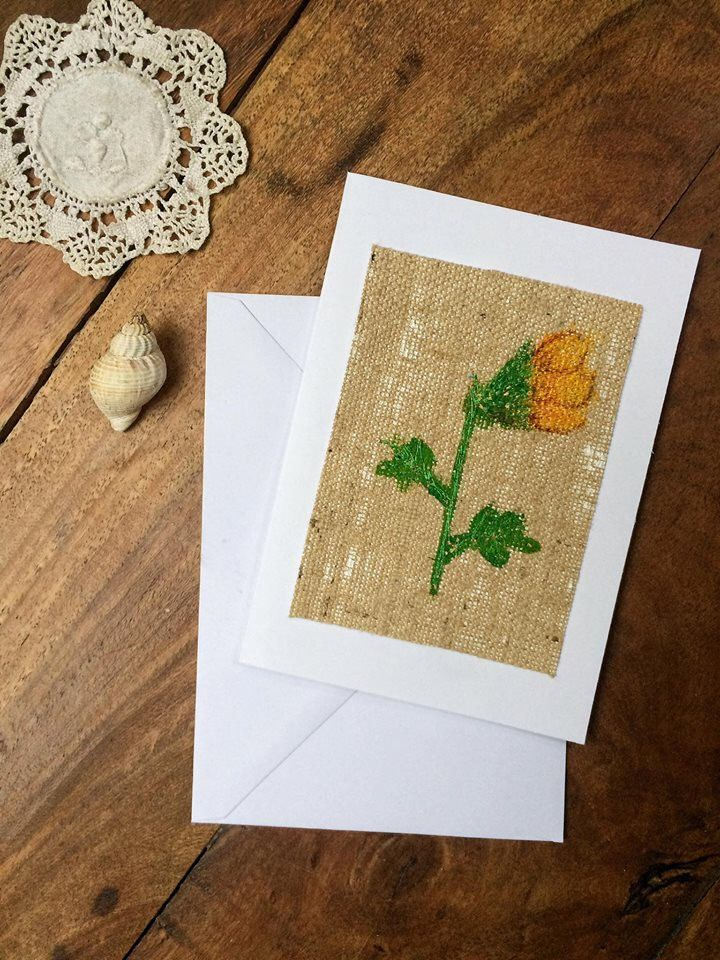 35 best embroidery art greetings cards images on pinterest etsy handmade card greetings card birthday embroidered card special occassion thank you card blank card daffodil card m4hsunfo