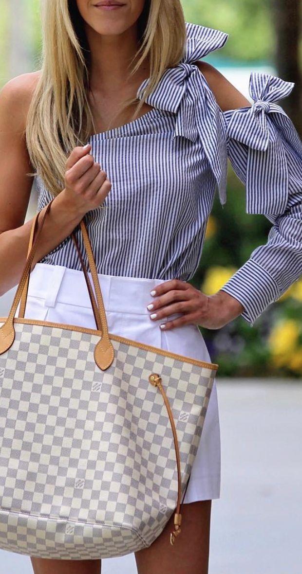 ribbon one-shoulder blouse