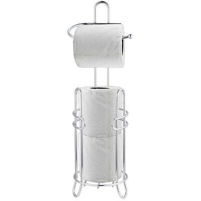 Home Basics Free Standing Toilet Paper Holder with Dispenser