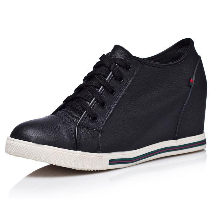 Cheap sneakers white, Buy Quality sneaker king shoes directly from China sneakers shoes uk Suppliers:                  New 2014 Women Genuine Leather Wedges Shoes Fashion Lace Up Wedge Sneakers for Women
