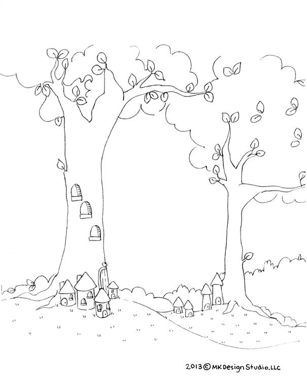 A Fairy Village. | Fairy village, Tooth fairy, Coloring pages