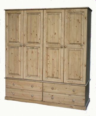 4 door 4 drawer wooden wardrobe.