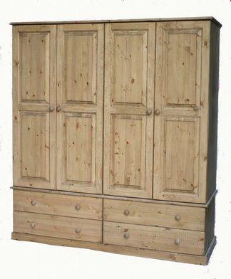 4 door 4 drawer wooden wardrobe.