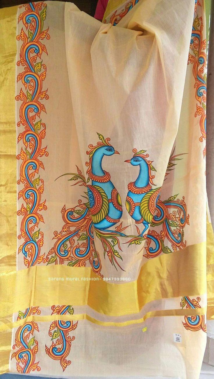 pin by ashwini krishna on mural pinterest saree. Black Bedroom Furniture Sets. Home Design Ideas