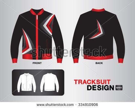 black tracksuit design vector illustration