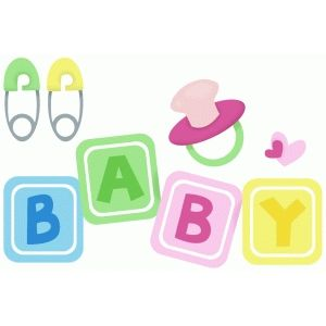 Silhouette Design Store   Search Designs : Baby Shower